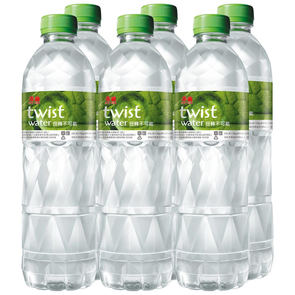 泰山Twist Water扭世代環保水(600mlX6入)