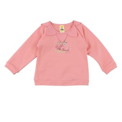 愛的世界 MYBABY 花瓣領束口長袖上衣/2~3歲