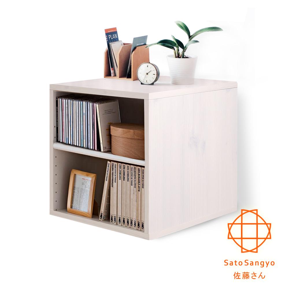 Sato Hako有故事的風格-雙格櫃復古洗白木紋