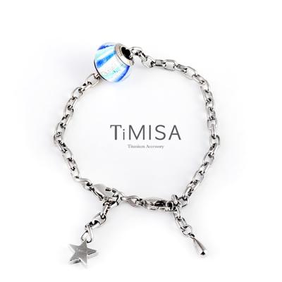 TiMISA 動感 純鈦手鍊 串珠套組(任選)