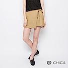 CHICA 歌詠青春學院風綁帶設計短裙(2色)