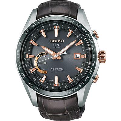 SEIKO 精工 ASTRON GPS 鈦衛星太陽能電波腕錶(SSE095J1)-45mm