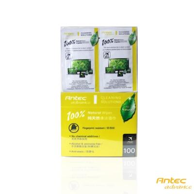 Antec a.m.p 100% 天然噴霧清潔濕紙巾攜帶包(100入)