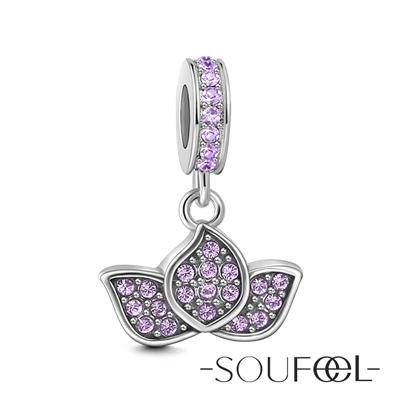 SOUFEEL索菲爾 925純銀珠飾 睡蓮 吊飾