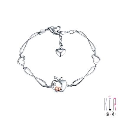 K'OR蔻兒 晶蘋果鑽石/K金白鋼手鍊-B款-0.01克拉