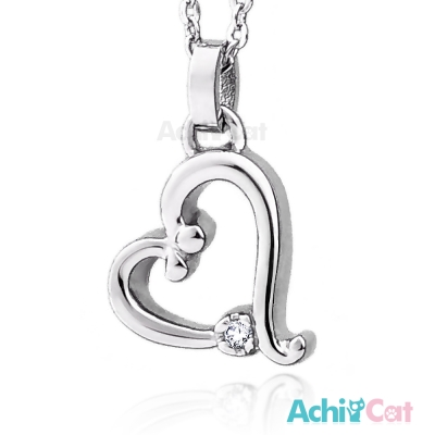 AchiCat 珠寶白鋼項鍊 浪漫之心