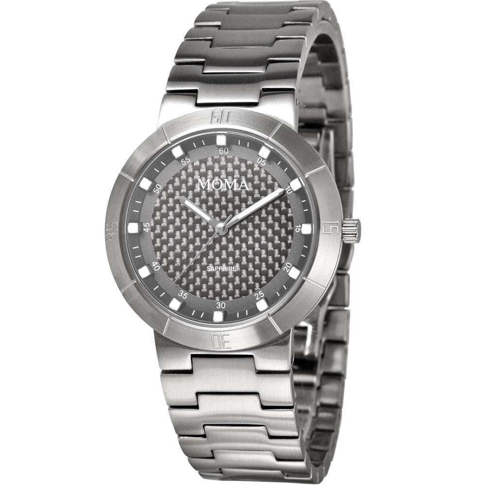 MOMA 疾速天時碳纖維潮流腕錶-鐵灰/34mm