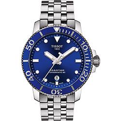 TISSOT 天梭 Seastar 1000 海洋之星300米潛水機械錶-藍x銀/43mm