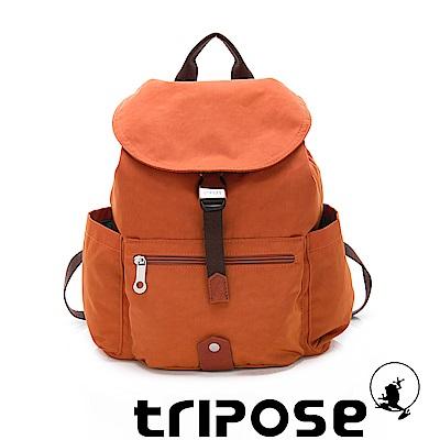 tripose MEMENTO系列微皺尼龍輕量防潑水後背包-小 鮮香橙