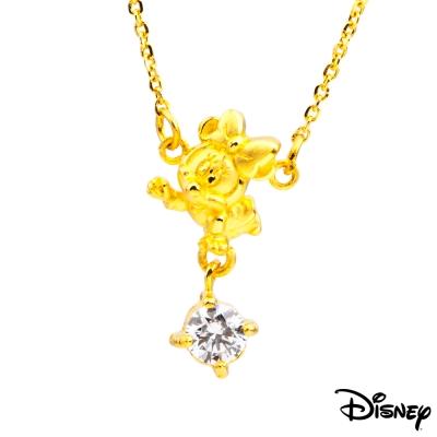Disney迪士尼金飾 開心美妮黃金項鍊