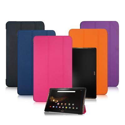 VXTRA Acer Iconia Tab 10 A3-A40經典皮紋三折保護套
