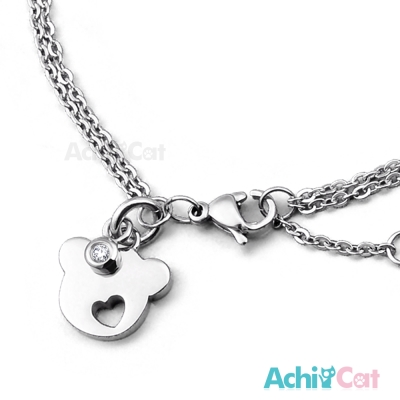 AchiCat 珠寶白鋼手鍊 甜心小熊