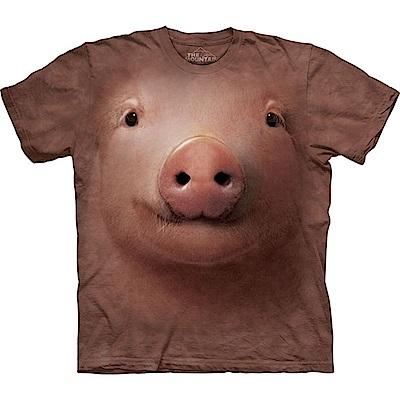 摩達客 美國進口The Mountain 可愛豬臉  純棉環保短袖T恤