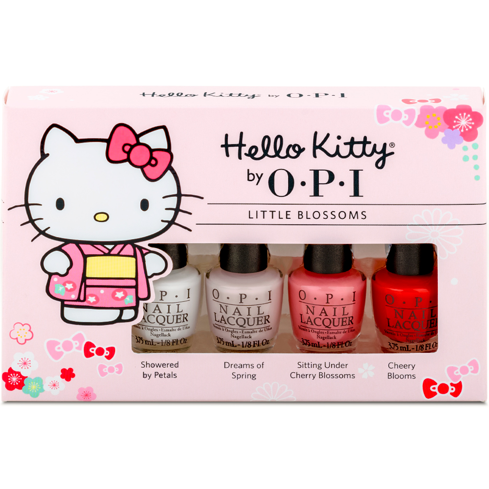 OPI Hello Kitty櫻花舞動系列.櫻花翩翩4入迷你組(DDH10)