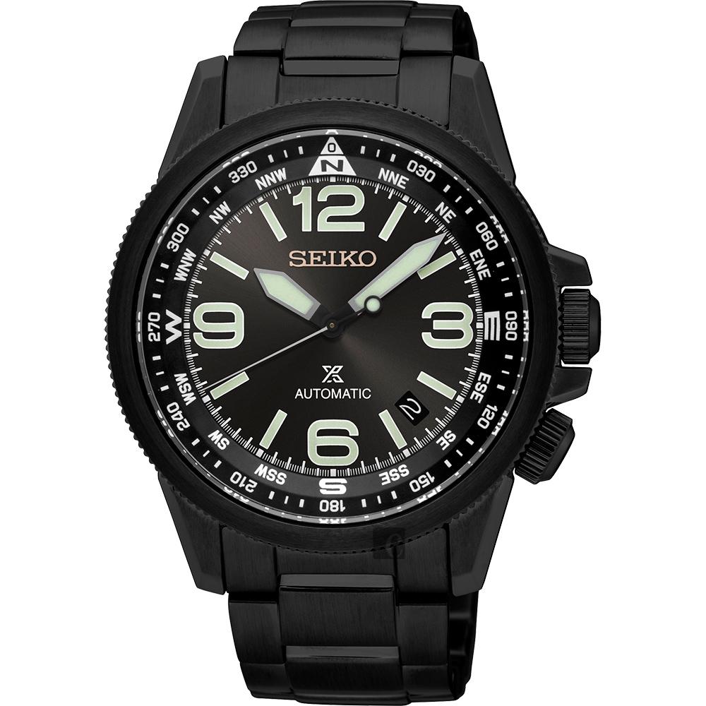 SEIKO精工 Prospex 空軍爭霸機械腕錶(SRPA73J1)-鍍黑/42mm