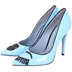 Chiara Ferragni Flirting 新改版眨眼漆皮尖頭高跟鞋(天空藍)
