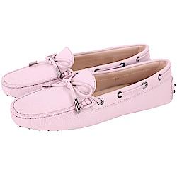 TOD'S Gommino 經典綁帶休閒豆豆鞋(女鞋/粉紫色)