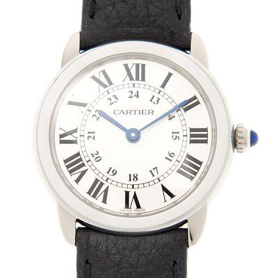 CARTIER RONDE SOLO經典小型皮帶腕錶WSRN0019 x29mm