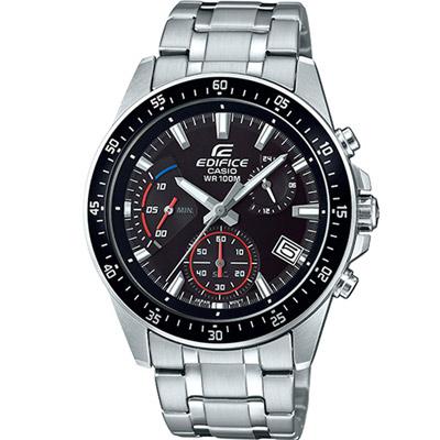 EDIFICE 大氣風格時尚腕錶(EFV-540D-1A)黑/43.8mm