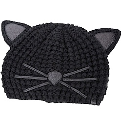 KARL LAGERFELD Choupette 金蔥細節黑色貓咪造型針織帽