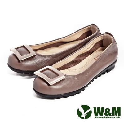 W&M 四方環氣墊淑女鞋-棕