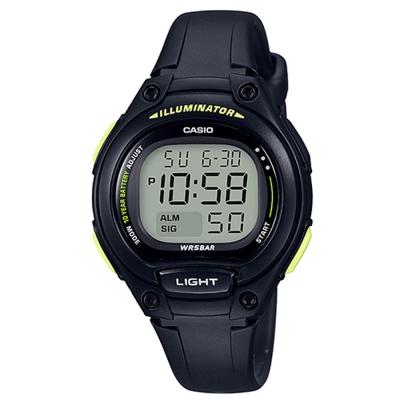 CASIO 簡約造型超實用數位休閒錶(LW-203-1B)-黑框x黑/34.6mm