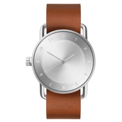 TID Watches No.2-經典棕褐色x真皮錶帶/40mm