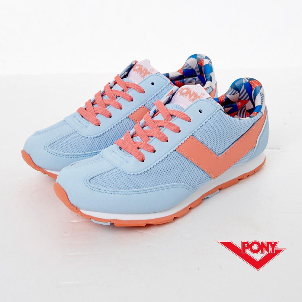 PONY-SOHO 粉嫩季節色慢跑鞋-水藍(女)