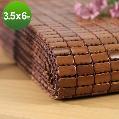 BuyJM 天然炭化單人加大3.5X6.2尺專利棉織麻將涼蓆/附鬆緊帶款