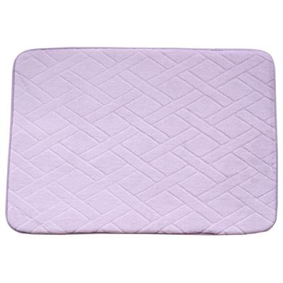 【wepon】記憶棉防滑地墊((藕紫色)