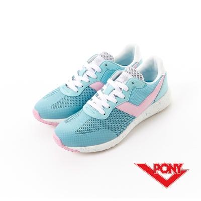 【PONY】SOHO+系列-輕甜休閒鞋-女性-粉藍