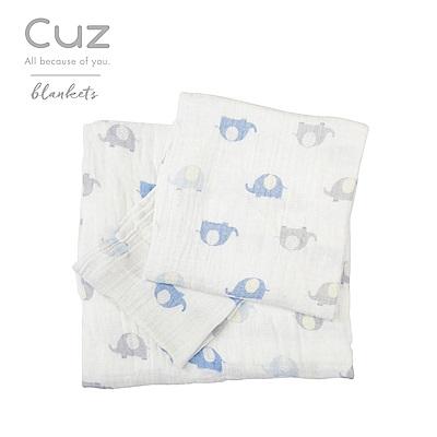 Cuz-大耳小象(紗布巾)30cm-2入