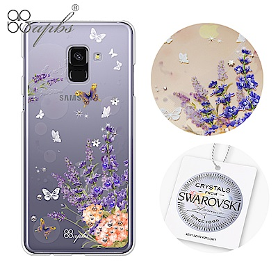 apbs Samsung Galaxy A8 2018 施華洛世奇彩鑽手機殼-普...