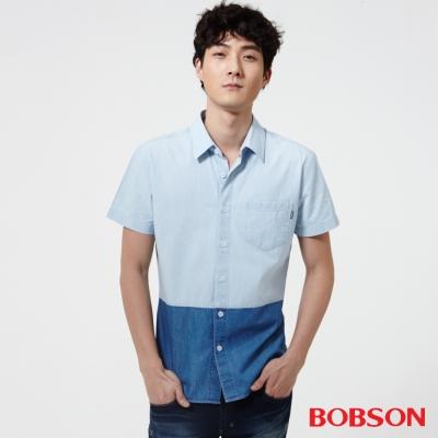 BOBSON  男款雙配色襯衫
