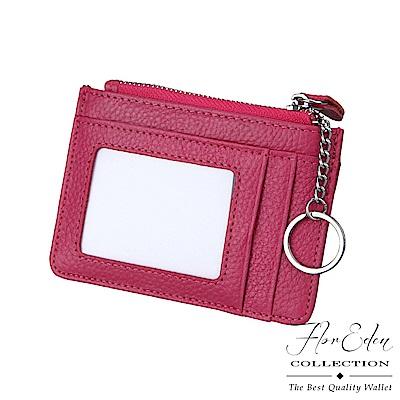DF Flor Eden皮夾 - 通勤上學隨身悠遊卡包零錢包牛皮款-共3色