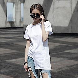 簡約不規則設計百搭短袖T恤-設計所在