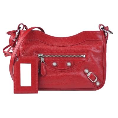 Balenciaga 巴黎世家 HIP系列銀釦斜背包(紅)