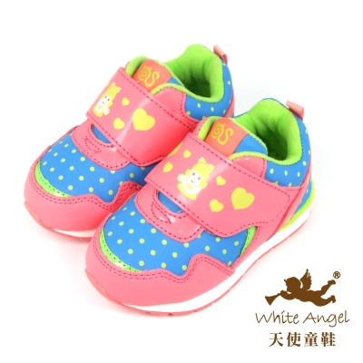 天使童鞋-50030 可愛休閒運動鞋 (小童)-西瓜紅
