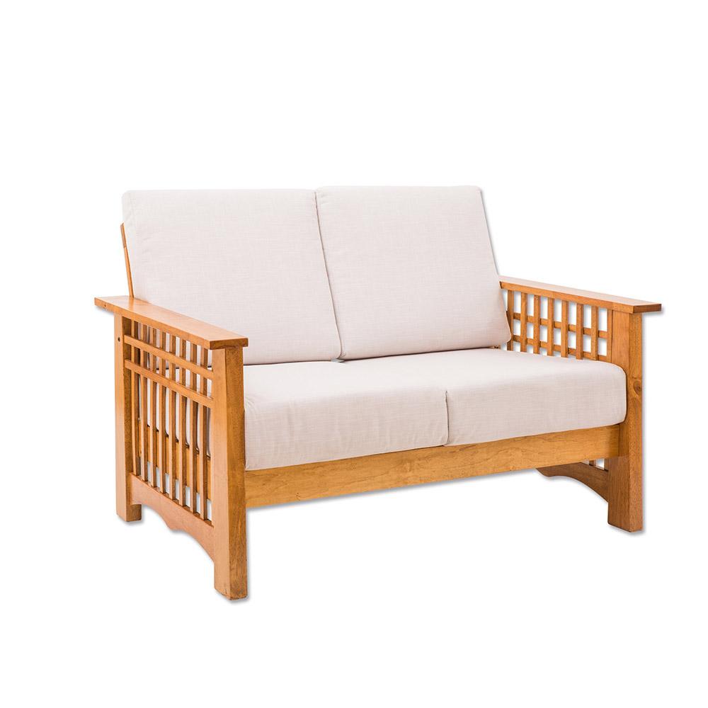 日木家居 Jake杰可實木雙人沙發