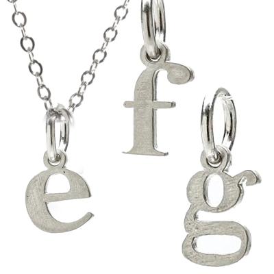 Dogeared 幸運字母 e f g 銀色許願項鍊 附原廠盒