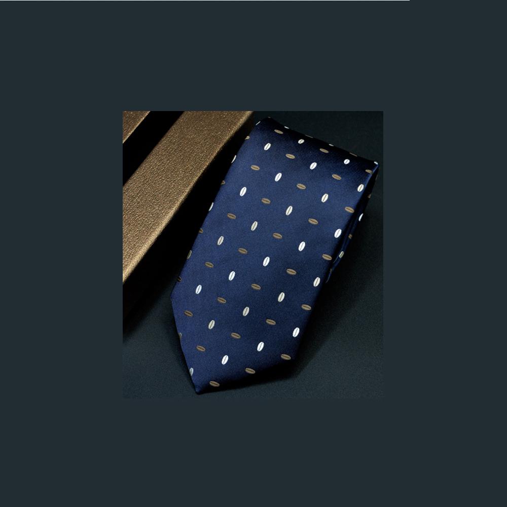拉福  果粒藍領帶7cm寬版領帶拉鍊領帶 (藍)