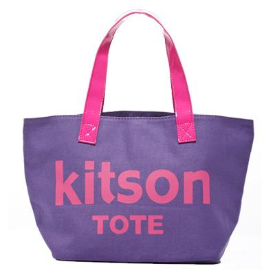 kitson 美式學院風迷你托特包(PURPLE)