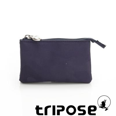 tripose 漫遊系列岩紋簡約微旅萬用零錢包 迷彩藍