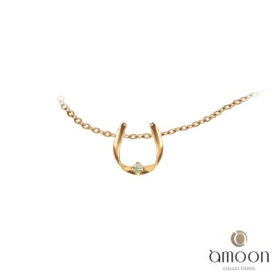 amoon 戀戀東京系列 奔馳 10K金鑽石墜子 送18K金純銀項鍊-玫瑰金