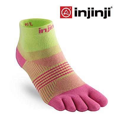 【INJINJI】RUN女性輕量吸排五趾短襪 [二色可選]