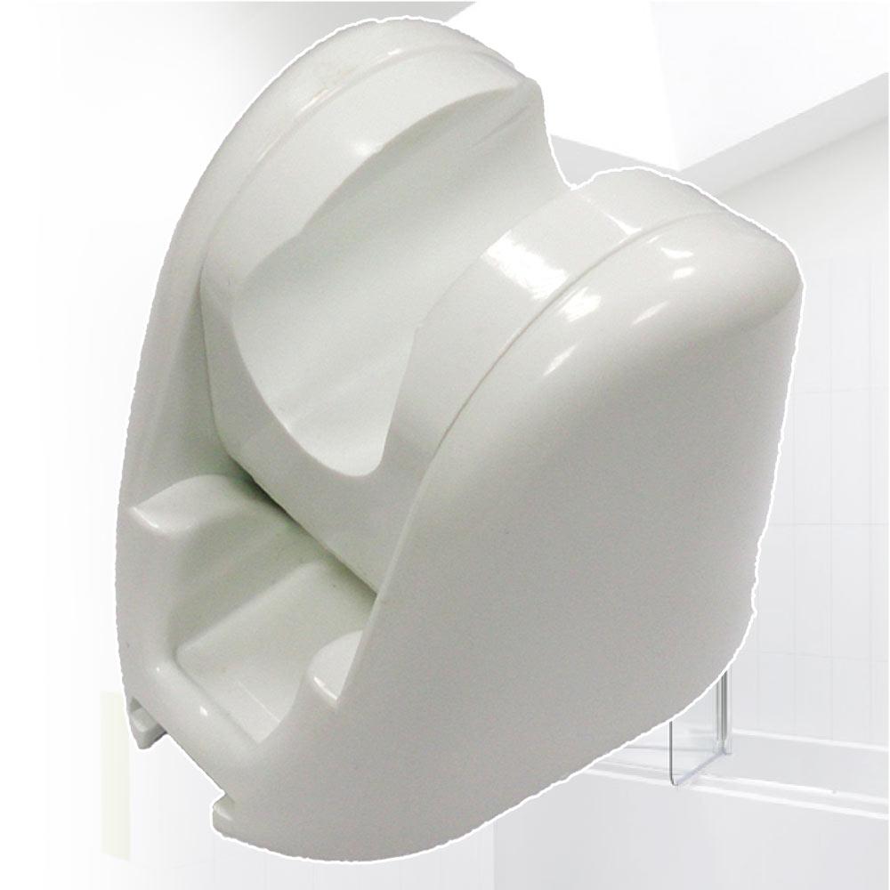 魔特萊 免鑽孔專利10段可調角度掛座〈白〉2入