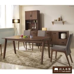 日本直人木業- Tendress北歐全實木餐桌椅(一桌四椅)