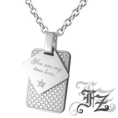 FZ  永恆真愛誓言白鋼項鍊