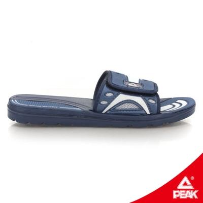 PEAK匹克。男休閒運動拖鞋-海軍藍/正白