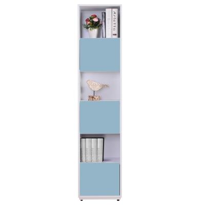 AT HOME-蒂芬妮1.35尺彩色三單門書櫃(五色可選)